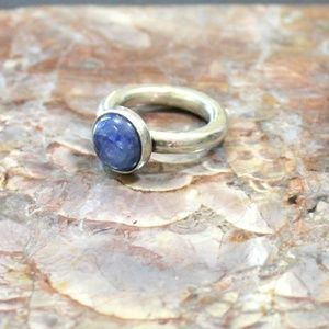 Sundance Kyanite Cabochon Sterling Silver Ring